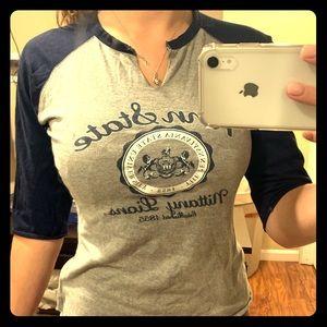 VINTAGE Penn State quarter sleeve T-shirt